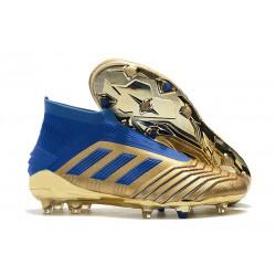 adidas Predator 19+ FG Fotbollsskor för Män - Guld Blå