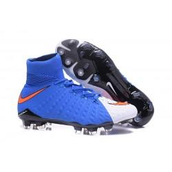 Nike Fotbollsskor Phantom Hypervenom 3 Elite DF FG - Blå Vit Röd