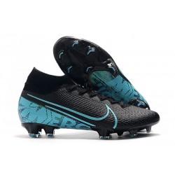 Fotbollsskor Nike Mercurial Superfly 7 Elite FG - Svart Blå