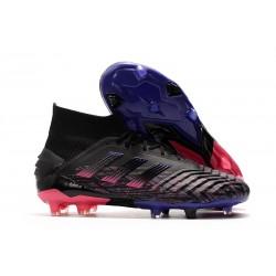adidas Predator 19+ FG Fotbollsskor för Män - Svart Blå Rosa