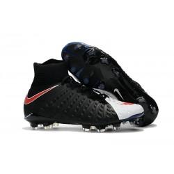 Nike Fotbollsskor Phantom Hypervenom 3 Elite DF FG - Svart Vit Röd