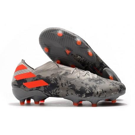 Fotbollsskor för Män adidas Nemeziz 19.1 FG - Grå Orange Vit