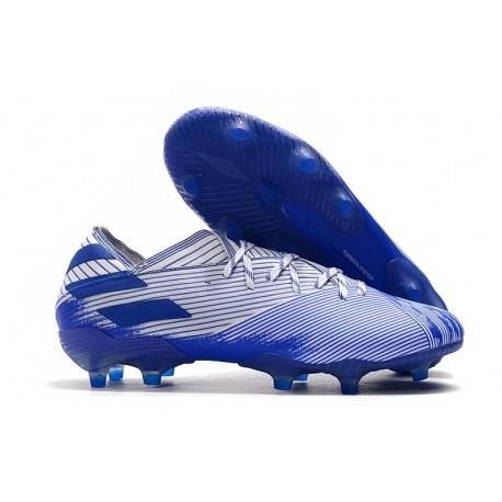 Fotbollsskor för Herrar adidas Nemeziz 19.1 FG Vit Blå