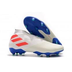 Fotbollsskor för Män adidas Nemeziz 19+ FG Vit Orange