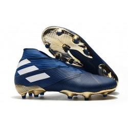 Fotbollsskor för Män adidas Nemeziz 19+ FG Blå Vit Svart