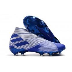 Fotbollsskor för Män adidas Nemeziz 19+ FG Vit Blå