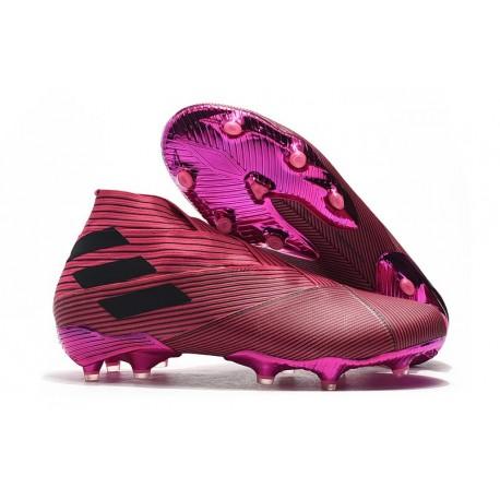 Fotbollsskor för Män adidas Nemeziz 19+ FG Rosa Svart