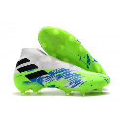 Fotbollsskor för Män adidas Nemeziz 19+ FG Vit Grön Blå
