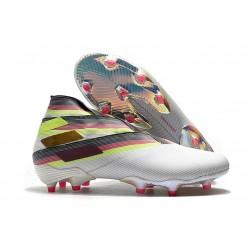 Fotbollsskor för Män adidas Nemeziz 19+ FG Vit Svart Silver