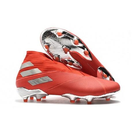 Fotbollsskor för Män adidas Nemeziz 19+ FG Röd Silver