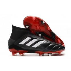 Fotbollsskor för Män adidas Predator Mania 19+FG ADV Svart Vit Röd
