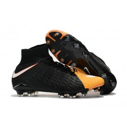 Nike Fotbollsskor Phantom Hypervenom 3 Elite DF FG - Svart Orange