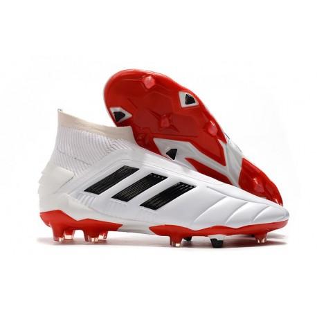 Fotbollsskor för Män adidas Predator Mania 19+FG ADV Vit Svart Röd