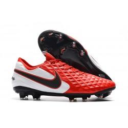 Fotbollskor Nike Tiempo Legend 8 Elite FG -Röd Vit Svart