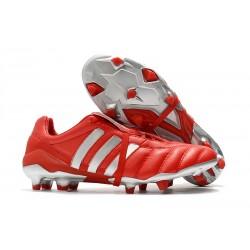 adidas Predator 19+ FG Fotbollsskor för Män - Röd Silver