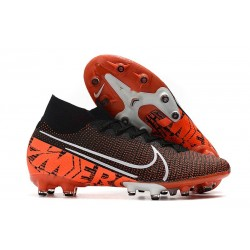 Fotbollsskon Nike Mercurial Superfly 7 Elite AG-PRO Svart Orange