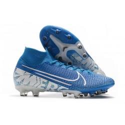 Fotbollsskon Nike Mercurial Superfly 7 Elite AG-PRO Blå Vit