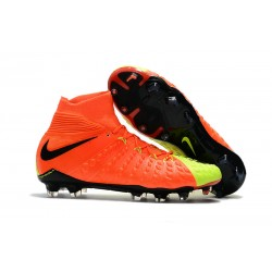 Nike Fotbollsskor Phantom Hypervenom 3 Elite DF FG - Orange Gul