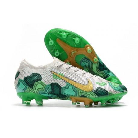 Fotbollsskor Nike Mercurial Vapor 13 Elite AG-Pro Mbappe Grå Grön Guld