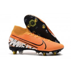 Nike Mercurial Superfly 7 Elite SG-PRO Anti-Clog Orange Vit