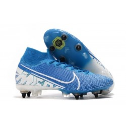 Nike Mercurial Superfly 7 Elite SG-PRO Anti-Clog New Lights Blå Vit