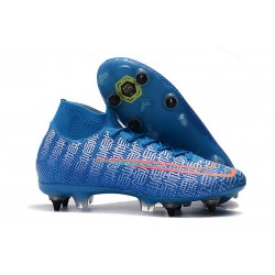 Nike Mercurial Superfly 7 Elite SG-PRO Anti-Clog Blå Röd
