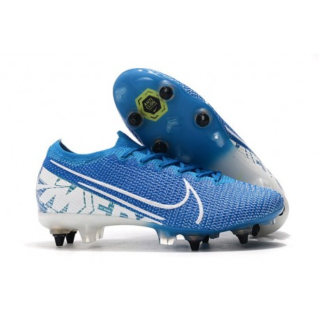 Nike Mercurial Vapor 13 Elite SG-PRO Anti-Clog New Lights Blå Vit