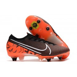 Nike Mercurial Vapor 13 Elite SG-PRO Anti-Clog Svart Orange Vit