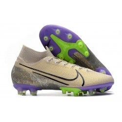 Fotbollsskon Nike Mercurial Superfly 7 Elite AG-PRO Beige Svart Lila