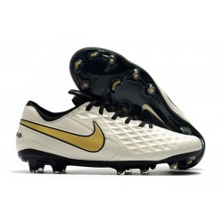 Fotbollskor Nike Tiempo Legend 8 Elite FG -Vit Guld Svart