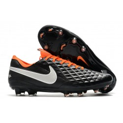 Fotbollskor Nike Tiempo Legend 8 Elite FG -Svart Vit Orange