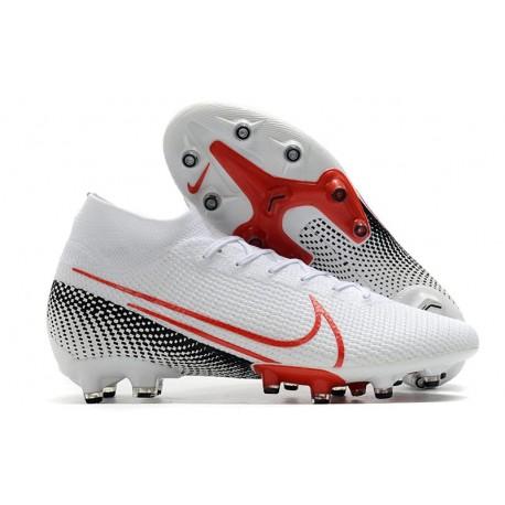 Fotbollsskon Nike Mercurial Superfly 7 Elite AG-PRO Vit Röd