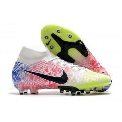 Fotbollsskon Nike Mercurial Superfly 7 Elite AG-PRO Neymar Vit Rosa Blå