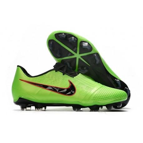 Nike Fotbollsskor för Män Phantom Vnm Elite FG -Grön Svart