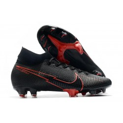 Nike Skor Mercurial Superfly 7 Elite DF FG -Svart Röd