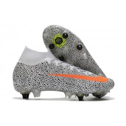 Nike Mercurial Superfly VII Elite SG-PRO CR7 Safari-Vit Orange Svart