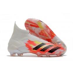 Fotbollsskor för Herr Adidas Predator 20+ Mutator FG Uniforia - Vit Svart Röd