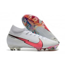Nike Skor Mercurial Superfly 7 Elite DF FG -Vit Rosa