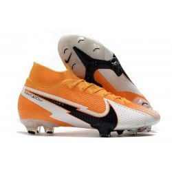 Nike Skor Mercurial Superfly 7 Elite DF FG Daybreak - Orange Svart Vit
