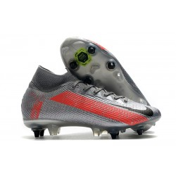 Nike Mercurial Superfly VII Elite SG-PRO Neighbourhood - Silver Svart Grå