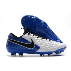 Nike Fotbollsskor för Män Tiempo Legend VIII Elite FG Vit Blå Svart