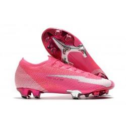 Nike Mercurial Vapor 13 Elite FG Mbappé Rosa - Rosa Vit Svart