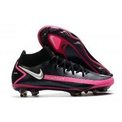 Fotbollsskor för Herrar Nike Phantom GT Elite DF FG Svart Silver Rosa