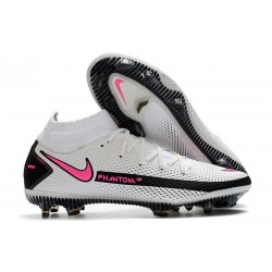 Fotbollsskor Nike Phantom GT Elite DF FG Daybreak - Vit Rosa Svart