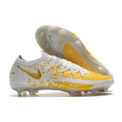 Fotbollsskor för Herrar Nike Phantom GT Elite FG Vit Guld