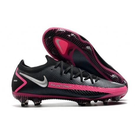 Fotbollsskor för Herrar Nike Phantom GT Elite FG Svart Silver Rosa