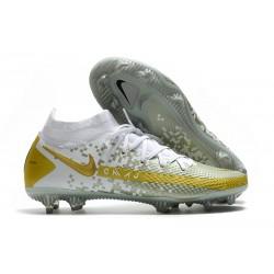 Fotbollsskor för Herrar Nike Phantom GT Elite DF FG Guld Vit