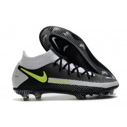 Nike Phantom Generative Texture Elite DF FG Svart Grå Gul
