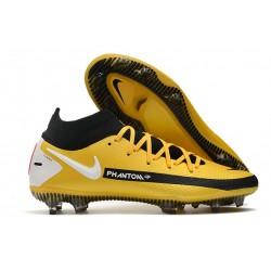 Fotbollsskor för Herrar Nike Phantom GT Elite DF FG Guld Svart Vit