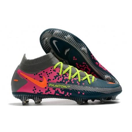 Nike Phantom Generative Texture Elite DF FG Blå Grå Rosa